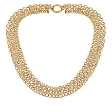 "Technibond® Woven-Link Hammered Chain 18"" Necklace"