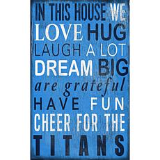 Tennessee Titans In This House Sign
