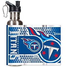 Tennessee Titans Stainless Steel Water Bottle with Metallic Graphics