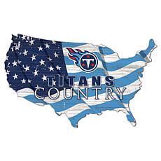 Tennessee Titans USA Shape Flag Cutout
