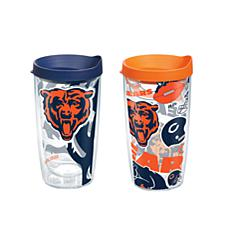 Tervis NFL 16 oz All Over and Genuine Tumbler Set - Chicago Bears