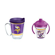 Tervis NFL Minnesota Vikings Legend Coffee Mug & Born A Fan Sippy Cup