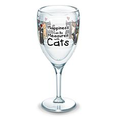Tervis Project Paws Happiness Measured Cats 9 oz Wine Glass
