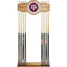 Texas A&M University 2 piece Wood and Mirror Wall Cue Rack