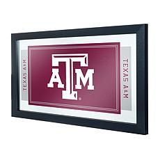 Texas A&M University Logo and Mascot Framed Mirror