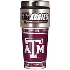 Texas AM Aggies Travel Tumbler w/ Metallic Graphics and Team Logo