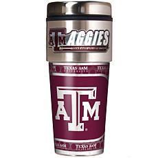 Texas AM Aggies Travel Tumbler w/ Metallic Graphics and
