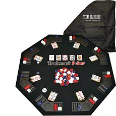 "Texas Holdem Travel Kit with 48"" Tabletop and 300 Chips"
