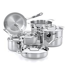 The French Chefs 10-Piece Stainless Steel Cookware Set