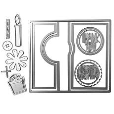 The Stamps of Life Circle Flip It Die Card Folds to A2 DIY Craft Dies