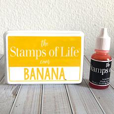 The Stamps of Life Ink Pad and Refill - Banana