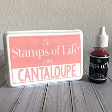The Stamps of Life Ink Pad and Refill - Cantaloupe