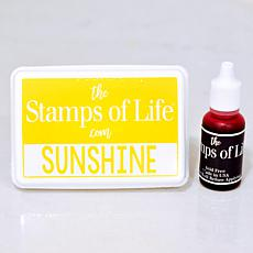 The Stamps of Life Ink Pad and Refill - Sunshine