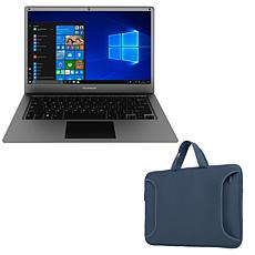"""Thomson Neo 14.1"""" Intel Celeron 64GB Ultrabook with Carry Case"""