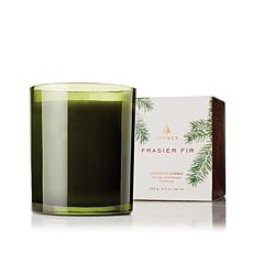 Thymes Frasier Fir Poured Candle  - Forest Green Glass