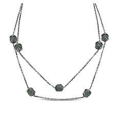 "Tiffany Kay Studio 36"" Aventurine Textured Station Necklace"
