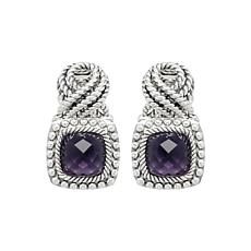 Tiffany Kay Studio Sterling Silver Amethyst Eyelet Earrings