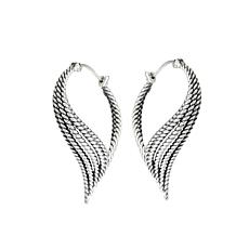Tiffany Kay Studio Sterling Silver Eyelet Hoop Earrings