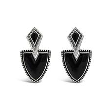 Tiffany Kay Studio Sterling Silver Onyx Drop Earrings
