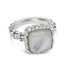 Tiffany Kay Studio Sterling Silver Purl Knit Mother-of-Pearl Ring