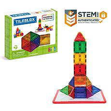 Tileblox Rainbow 30-Piece Set with Magnetic Activity Board