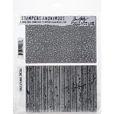 """Tim Holtz Cling Stamps 7"""" x 8.5"""" - Craze and Planks"""