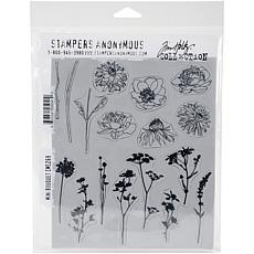 "Tim Holtz Cling Stamps 7"" x 8.5"" - Mini Bouquet"