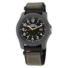 Timex Expedition Black Dial Green & Black Strap Watch