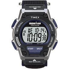 Timex Men's Ironman Endure 30-Lap Shock-Resistant Black/Blue Watch