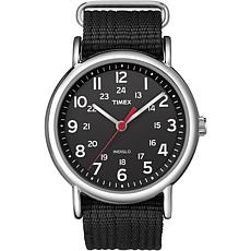 Timex Men's Weekender Black Nylon Strap Watch