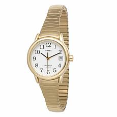Timex Women's Goldtone Stainless Steel EZ-Reader Expansion Band Watch