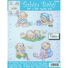 Tobin Baby Bears Quilt Stamped Cross-Stitch Kit