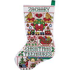 Tobin Christmas Treasures Stocking Cross Stitch Kit