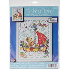 Tobin Counted Cross Stitch Kit - Sail Away Baby Birth Record