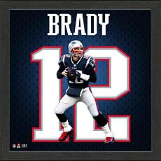 Tom Brady New England Patriots Impact Jersey Framed Photo