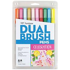 Tombow Dual Brush Pen Set 10-pack - Celebration