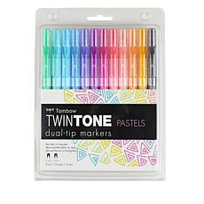 Tombow TwinTone Marker 12-pack - Brights