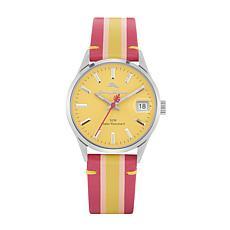 Tommy Bahama Women's Santa Monica Pink/Yellow Leather Strap Watch