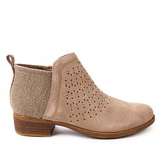 TOMS Deia Perforated Suede Ankle Bootie