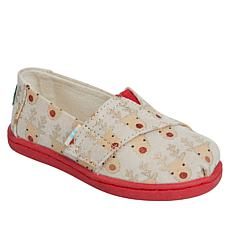 TOMS Tiny Alpargata Reindeer Slip-On