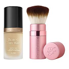 Too Faced Born This Way Almond Foundation with Kabuki Brush