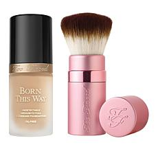 Too Faced Born This Way Nude Foundation with Kabuki Brush