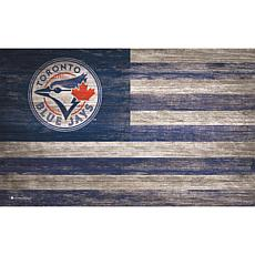 Toronto Blue Jays Distressed Flag 11x19