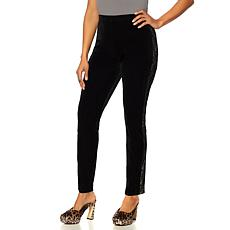 Touch of Cyn by Cyndi Lauper Velvet Legging with Lace Inset