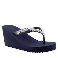 Touch Ups Shelly Wedge Thong Sandal