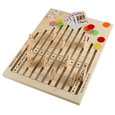 Toy Time Classic Wooden Tabletop Horse Race Game