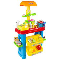 Toy Time Kids Grocery Store Selling Stand Set