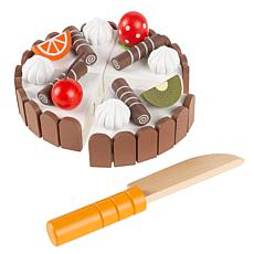 Toy Time Kids Wooden Magnetic Birthday Cake Set