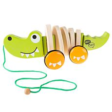 Toy Time Walk Along Alligator Wooden Pull Toy