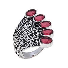 "Traveler's Journey 5ctw Pink Quartz ""Peacock"" Ring"